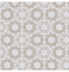 Lace ornament pattern background vector