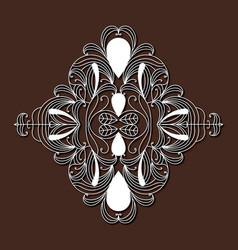 laser cutting ornamental floral diamond design in vector image