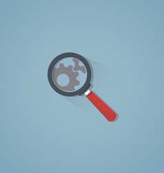 Magnifier with shadow vector image
