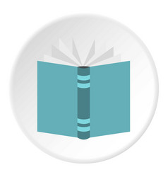 Open thick book icon circle vector