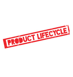 Product lifecycle rubber stamp vector