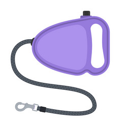 Retractable dog leash vector