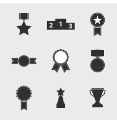 Set of icons of different awards vector image vector image