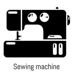 sewing machine icon simple black style vector image vector image
