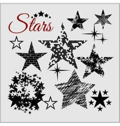 Stars Collection set vector image vector image