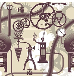 Steampunk pattern vector image