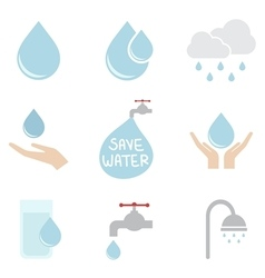 water icon vector image