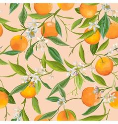 Seamless Pattern Orange Fruits Background vector image