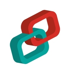 3d link chain icon vector