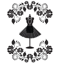mannequin with pattern vector image