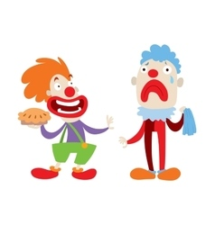Clown character cartoon vector