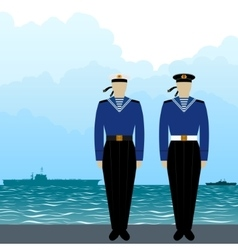 Uniforms soviet sailors vector