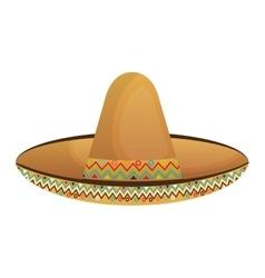 mexican hat culture element vector image