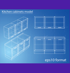 design and manufacture of kitchen furniture vector image