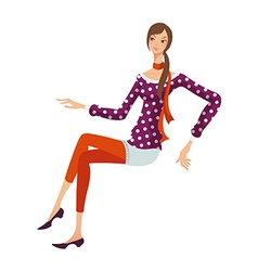 Relaxed woman vector