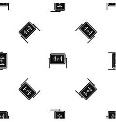 Board pattern seamless black vector