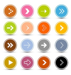 Arrows set in circles vector