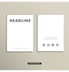 Magazine cover template with clean fronts eps vector