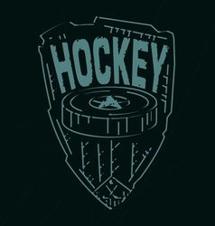Hockey emblemvs vector