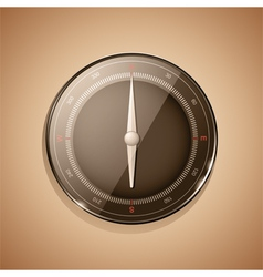 3d compass sepia vector