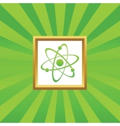 Atom picture icon vector