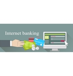 Internet banking money credit card vector