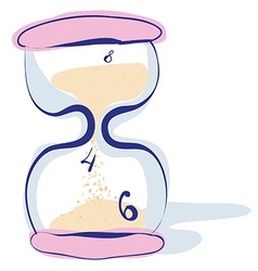 Hourglass sandglass sand timer sand clock isolated vector