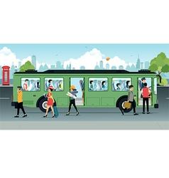 Passenger Bus vector image