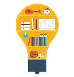Light bulb library vector