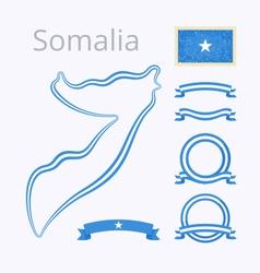 Colors of somalia vector