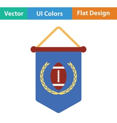 American football pennant icon vector