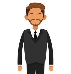 Tan man with beard businessman icon vector