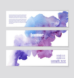 Banner with beautiful watercolor spots vector