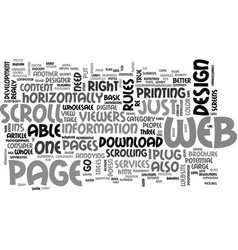 basic rules on web design text word cloud concept vector image vector image