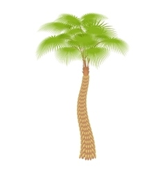 Big palm tree icon cartoon style vector