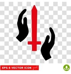 Classic guard sword eps icon vector
