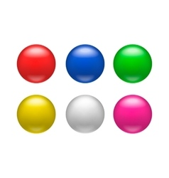 Colorful glossy badges magnets icon vector