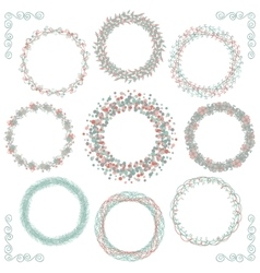 Colorful hand sketched rustic frames borders vector