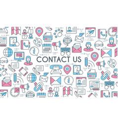 Contact us banner vector