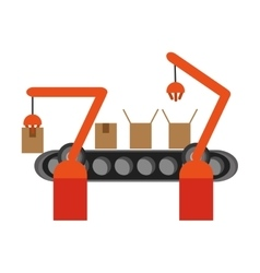 Conveyor belt factory industry icon vector image