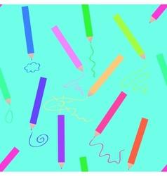 Crayons seamless vector