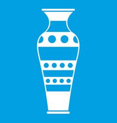 Egyptian vase icon white vector