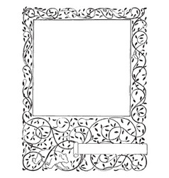 Floral frame have decorated with vines and leaves vector