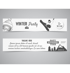 Holiday Identity templates Christmas banner vector image