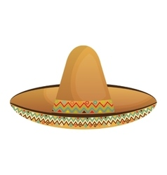 mexican hat culture element vector image vector image