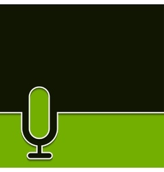 modern microphone with shadow vector image