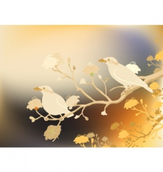 myna birds vector image vector image