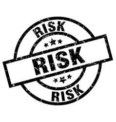 Risk round grunge black stamp vector