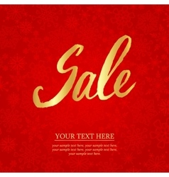 Sale hand lettering design template typography vector