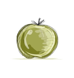 Sketch of apple for your design vector